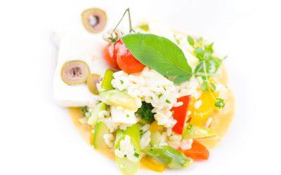 Risotto & Olivenziegenkäse